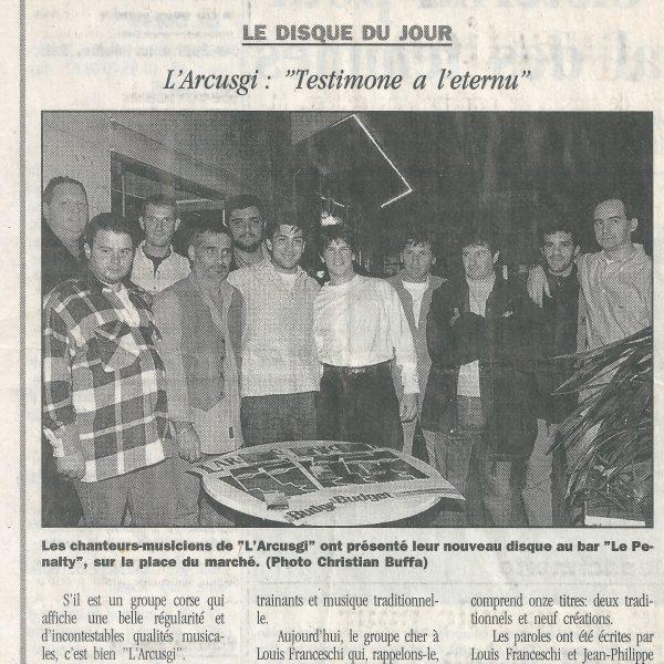 corse matin 11.11.1997